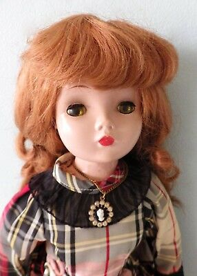 "Vtg 20"" Madame Alexander red hair Cissy doll 2 pairs shoes tagged corset"