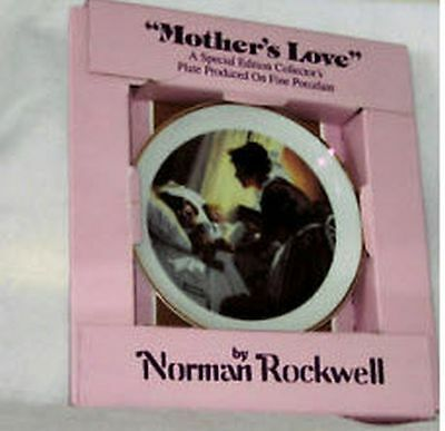 Norman Rockwell Mother's Love Plate