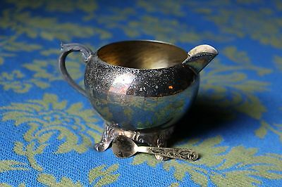 F B ROGERS Silver Co 1883 Footed Sugar Bowl With Spoon 1224 Vintage