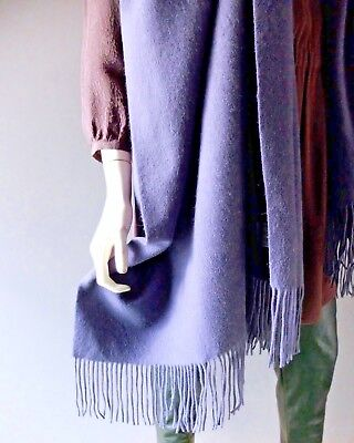 """Dark Dusty Purple Ladies X- Large Holiday Gift Cashmere Scarf 28"""" x 74"""" NEW NWOT"""