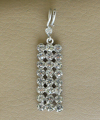 Vintage USSR Russian Soviet time Elegant 875 Silver Pendant with stones