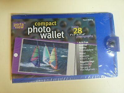 PORTAVIEW COMPACT PHOTO WALLET - Holds up to 28 Photos.