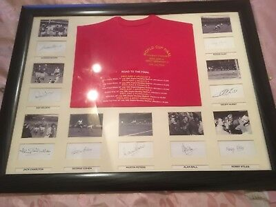 England 1966 World Cup Special shirt Signed Framed  Alan Ball 9 Autographs +