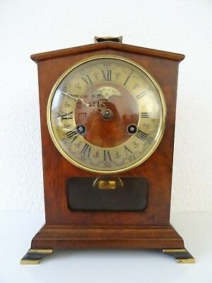 Warmink Wuba Dutch Vintage Mantel Shelf Bracket Clock (Junghans Hermle era)