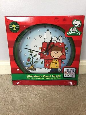 Peanuts A Charlie Brown Christmas Musical Christmas Carol Clock ~ New