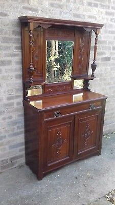 Victorian mirror topped  sideboard