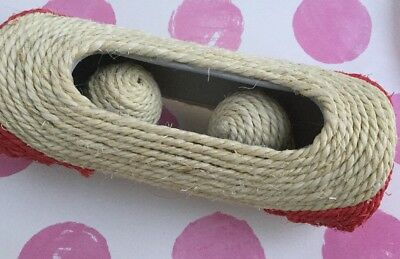 Cat Or Kitten Toy Sisal Tube With Rolling Balls For Playing Hours Of Fun!