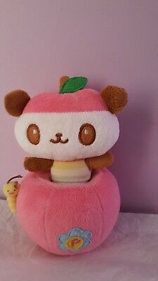 2007 Sanrio Pandapple 2 Piece Panda Bear With Apple & Worm Plush
