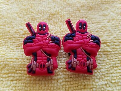 DEADPOOL PAIR shoe charms/cake toppers!! FAST USA SHIPPING