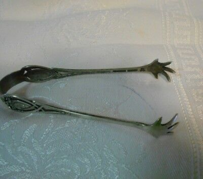 Antique Pair of Reticulated Sugar Tongs marked R B