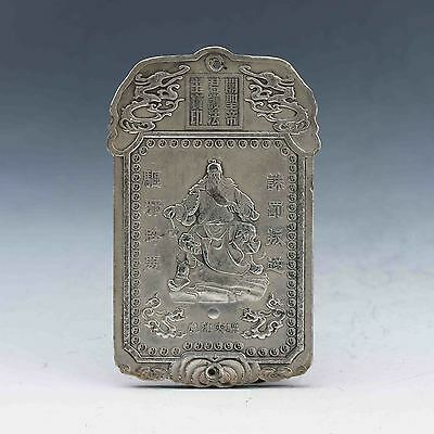 Tibet Silver Handwork Carved Ancient portraits Brand gd2034