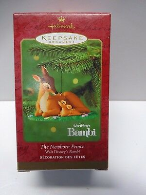 NIB * NEW *Hallmark Ornament 2000 The Newborn Prince Bambi * FREE SHIPPING *