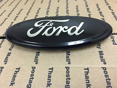 "New Ford Oval Front Or Rear Grille Tailgate Logo Emblem Medallion All Black 7"" I"