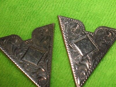 sterling~ western~ collar tips~Hand engraved~ 7 ounce