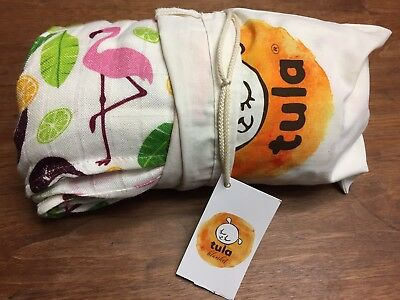 Brand New Coco Flamingo Cuddle Me Tula Blanket, BNIB, CM