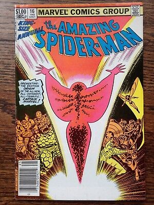 Amazing Spider-Man Annual #16 1st Captain Marvel (Monica Rambeau) from Nextwave
