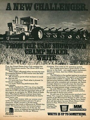 1973 Print Ad of White Oliver Minneapolis Moline MM G 1355 G1355 Tractor USAC