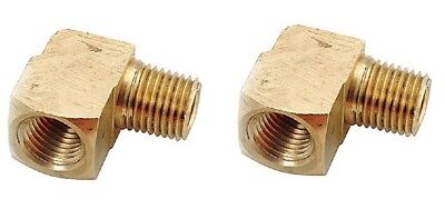 2 pieces 1/4 Female  x 1/4 Male NPT Brass 90° Street Elbow Made in USA 1200 psi