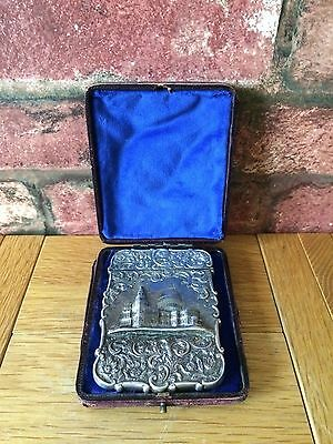 Rare Antique Silver 1844 Nathaniel Mills St Paul's Cathedral Card Case