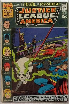 Justice League of America #84 (1970 DC) Bronze Age GD condition bag & board.