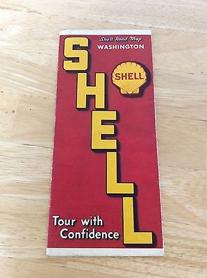 Vintage Washington Road Map from Shell Oil Co.