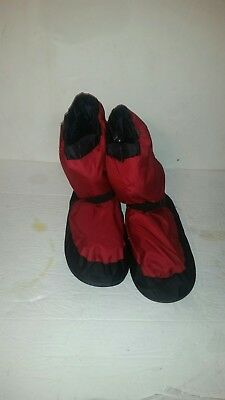 BLOCH Irina & Max Red Warm Up Booties IM009 Size LARGE Ballet Shoes Boots NEW