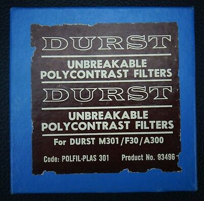 DURST POLYCONTRAST UNBREAKABLE FILTER SET For M301/F30/.A300