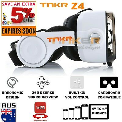 3D VR Headset VR Box Virtual Reality Glasses VR Headset Cardboard TNKR Bobo Z4