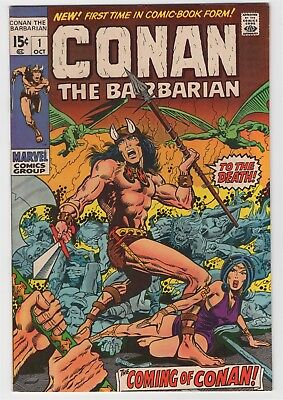 Conan the Barbarian #1 (Oct 1970, Marvel) NM- 9.2 Great looking copy