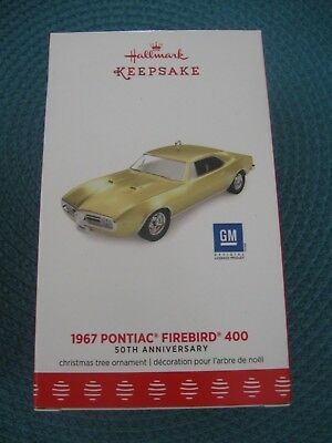 2017 Hallmark 1967 PONTIAC FIREBIRD 400 GM Car 50th Ann. LIMITED Ornament NEW