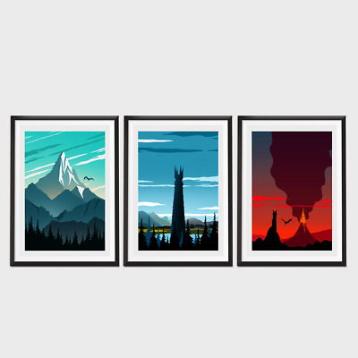 Lord Of The Rings Movie Poster Set
