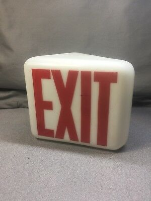 Vintage theater milk Glass Exit Sign