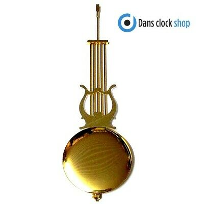 New Traditional Clock Pendulum Rod & Bob - 300mm Imitation Gold Rod & 88mm Bob