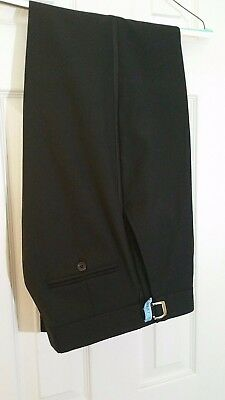"Black Mens Wearhouse Tuxedo Pants. 100% Wool Size 31L 31x34 (up to 37"" long)"