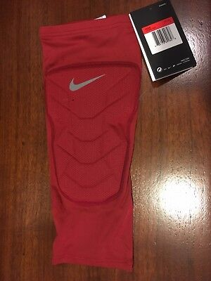 Nike Pro Combat Compression Leg Knee Shin Sleeve Hyperstrong Basketball  L Red