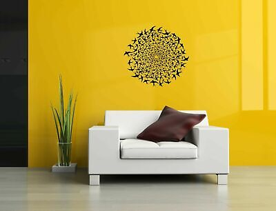 Wall Vinyl Sticker Decal Mural Design Art Birds Mandala Circle Ornament o003
