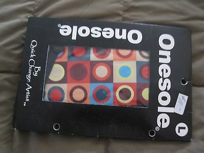 Onesole Topper Womens Size Medium Multi Color Circles  Free Ship!  NIP