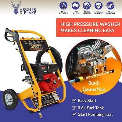 GIANTZ 8HP High Pressure Washer Cleaner Petrol Water Gurney 20M Hose 4800PSI New