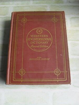 Vintage 1950 Webster's New International Second Edition Volume 1- Dictionary