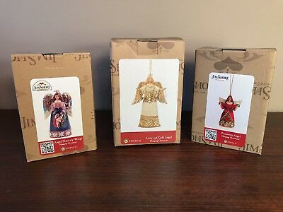 New Jim Shore Christmas Angel Hanging Ornaments Set Of 3