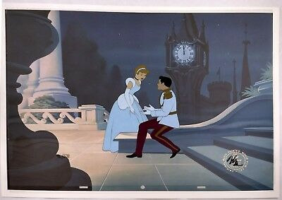"Disney hand-painted cel - CINDERELLA & Prince Charming ""The Royal Ball"""