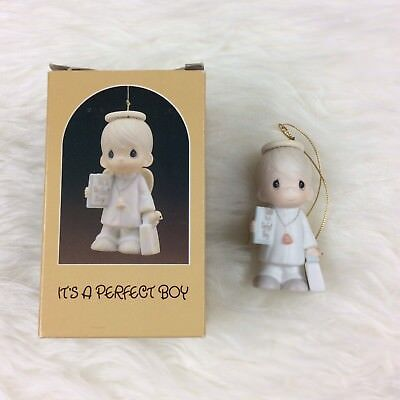 Precious Moments It's A Perfect Boy Ornament Christmas Angel with Original Box