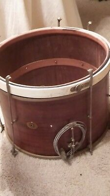 Vintage 1920s Ludwig Mahogany Marching Parade Snare Drum Shell