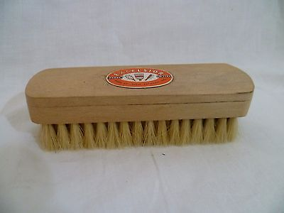 Mid-Century Vintage NATURAL Bristle Wood BRUSH Shoe Clothes Excelsior UNUSED