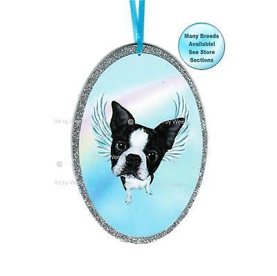 Boston Terrier Angel Ornament Dog With Wings Christmas Ornament Pet Memorial