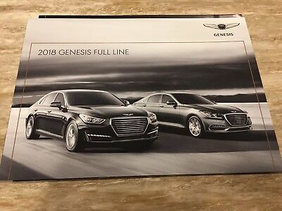 2018 GENESIS FULL-LINE 20-page Original Sales Brochure