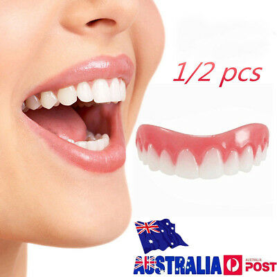 1/2 Pcs Instant Flex Cosmetic Teeth Fake Tooth Cover Dental False Natural Snap T