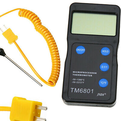 K Type Digital High Temperature Thermometer Pyrometer & Probe Set 1300°C 2327°F