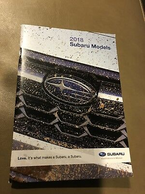 2018 Subaru FULL-LINE 56-page Small Original Sales Brochure