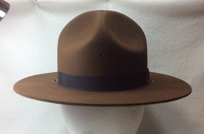 NWT Brown Felt Stratton Self Forming Size 7 1/4 Trooper/Ranger Hat